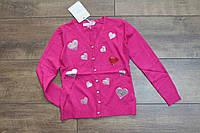 Вязанный кардиган для девочек 4- 12 лет