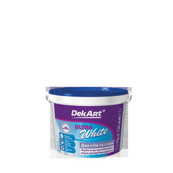 """Фарба інтер'єрна DekArt """"Ultra White"""", матова акрилова білосніжна 1 л"""