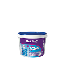 "Краска интерьерная DekArt ""Ultra White"", белоснежная матовая акриловая 1 л"