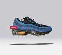 Мужские кроссовки Nike Air Max 95 Coastal Blue/Midnight Navy синие