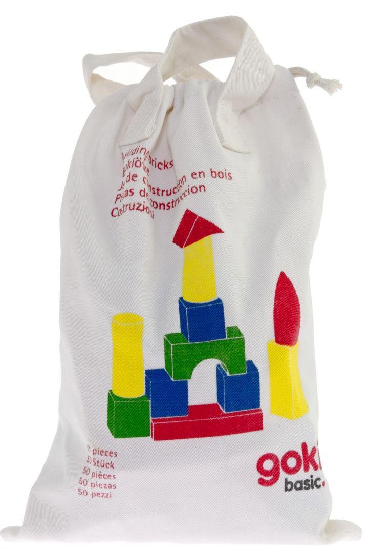 Деревянный маленький базовый детский конструктор goki 58575