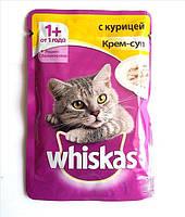 Whiskas 85г паучи Крем-Суп для кошек 24 шт