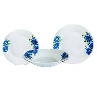 Набор столовой посуды Цветы голубые 18 предметов Оселя 21-206-074