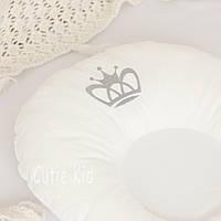 """Ортопедическая подушка для новорожденных """"Вышитая корона"""", фото 1"""