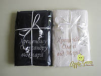 Большое банное полотенце с индивидуальной вышивкой, фото 1
