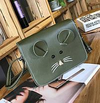 Милая сумка-почтальон мышка, мышонок, фото 3