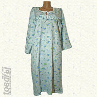 Ночная сорочка женская фланелевая с рукавом