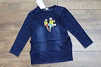 Джинсовая туника- платье с карманами 4- 12 лет