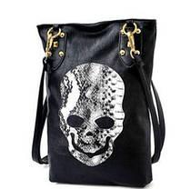 Модная женская сумка с принтом черепа , фото 3