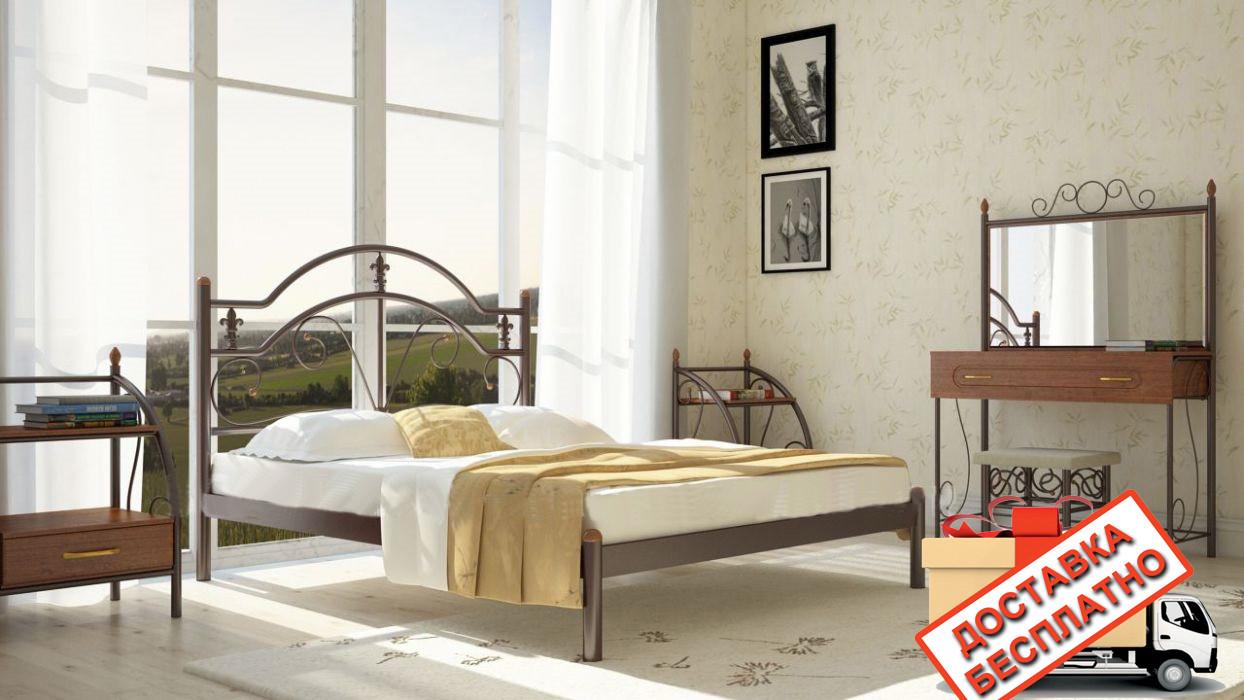 Кровать металлическая кованная Диана двуспальная, фото 1