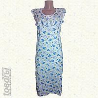 Ночная сорочка женская фланелевая рюшевая