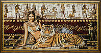 "Картина-гобелен ""Клеопатра с тигром"" 100х50 см, фото 1"
