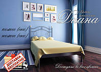 Кровать металлическая кованная Диана односпальная