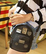 Стильный городской рюкзак с фигурными значками, MOSHOINOT, фото 3
