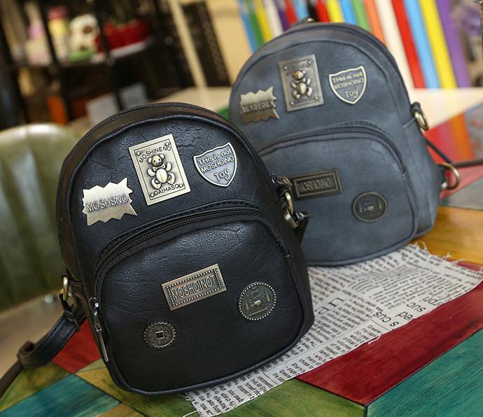 Стильный городской рюкзак с фигурными значками, MOSHOINOT