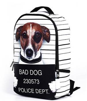 Большой оригинальный рюкзак с принтом Пес \ Песик, фото 2