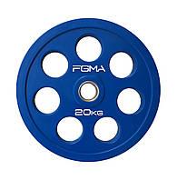Диск (блин) для штанги обрезиненный Revolver Color FGMA  20kg