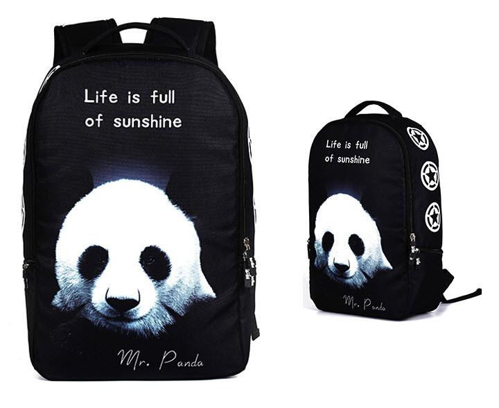 Большой оригинальный рюкзак с принтом Панда