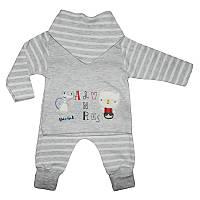 Комплект для мальчика  3м.-9м (62-74) кофта+штанишки арт.6126