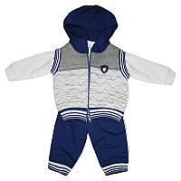 Комплект для мальчика 3м.-1р (62-74) кофта+штаны+жилет арт.5148