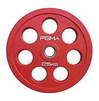 Диск (блин) для штанги обрезиненный Revolver Color FGMA  25kg