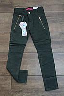 Катоновые брюки для девочек. 8- 14 лет