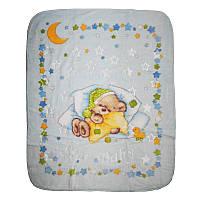 """Детский плед-одеяло """"Recos"""" 125340 в коробке, голубой"""