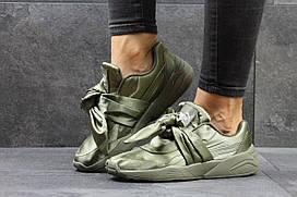 Женские кроссовки Puma x Fenty by Rihanna bow зеленые 2910