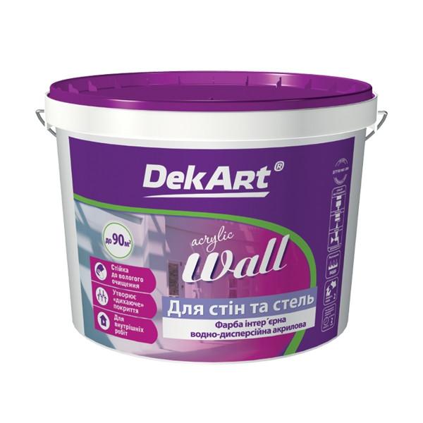 """Краска интерьерная DekArt """"Eco Interior"""", белая матовая акриловая 3 л"""