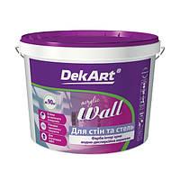 "Краска интерьерная DekArt ""Wall"", белая матовая акриловая 3 л"