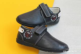 Школьные туфли мокасины синие на мальчика Том.м р.27, фото 2