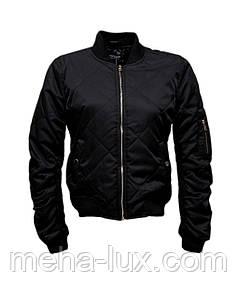 Куртка бомбер молодежная текстильная черная