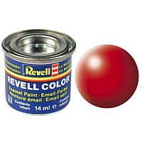 Краска № 332 светящаяся красная шелковисто-матовая luminous red silk 14ml, Revell
