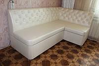 Мягкий диван для кухни жемчужного цвета , фото 1