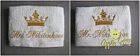 Махровое полотенце с вышивкой под заказ, фото 1