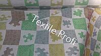 Льняная декоративная ткань для детских пледов, фото 1