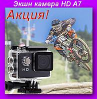 Экшн камера A7,Экшн камера HD,Водонепроницаема камера!Акция