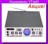Усилитель YT-k03,Аудио усилитель,Усилитель звука!Акция