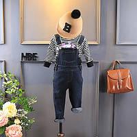 Детский джинсовый комбинезон черный