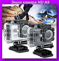 Экшн камера A9,Экшн камера A9,Экшн камера HD,Водонепроницаема камера!Опт