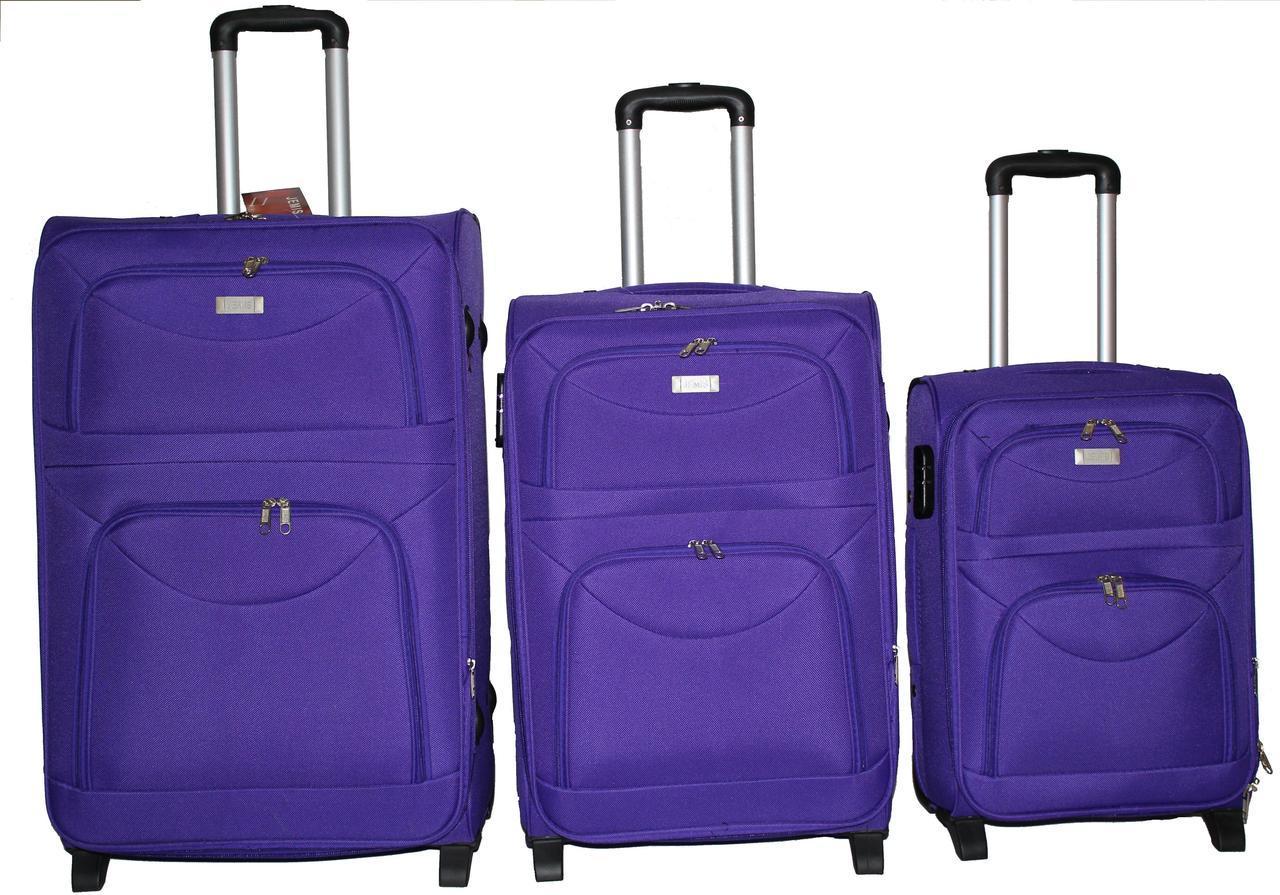 538ae79dd963 Чемодан сумка Wings 4 колеса набор 3 штуки фиолетовый: продажа, цена ...