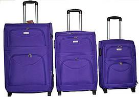 Валіза сумка Wings 4 колеса набір 3 штуки фіолетовий