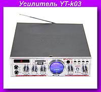 Усилитель YT-k03,Аудио усилитель,Усилитель звука!Опт