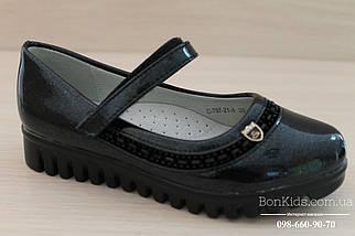 Черные лаковые туфли на девочку тракторная подошва тм Tom.m р. 27,28,29, фото 3