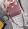 Стильная сумка с морщинками и ручкой, фото 4