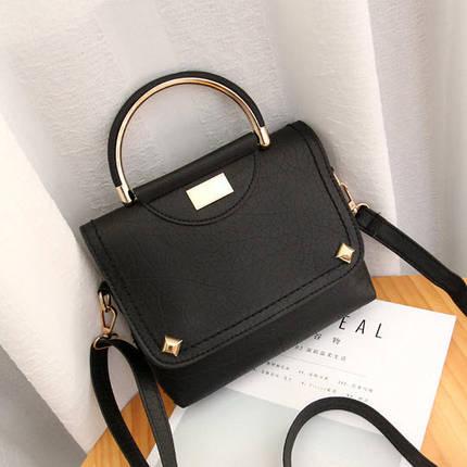 Стильная сумка с морщинками и ручкой, фото 2