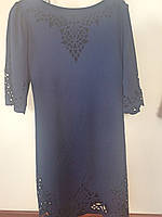 Платье синее с узором