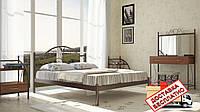 Кровать металлическая кованная Анжелика двуспальная, фото 1