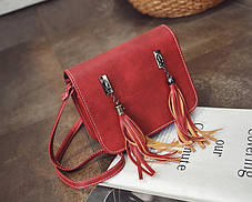 Fashion сумка почтальон с кисточками , фото 3