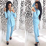 Женский брючный костюм из дайвинга: жакет и брюки (2 цвета), фото 4